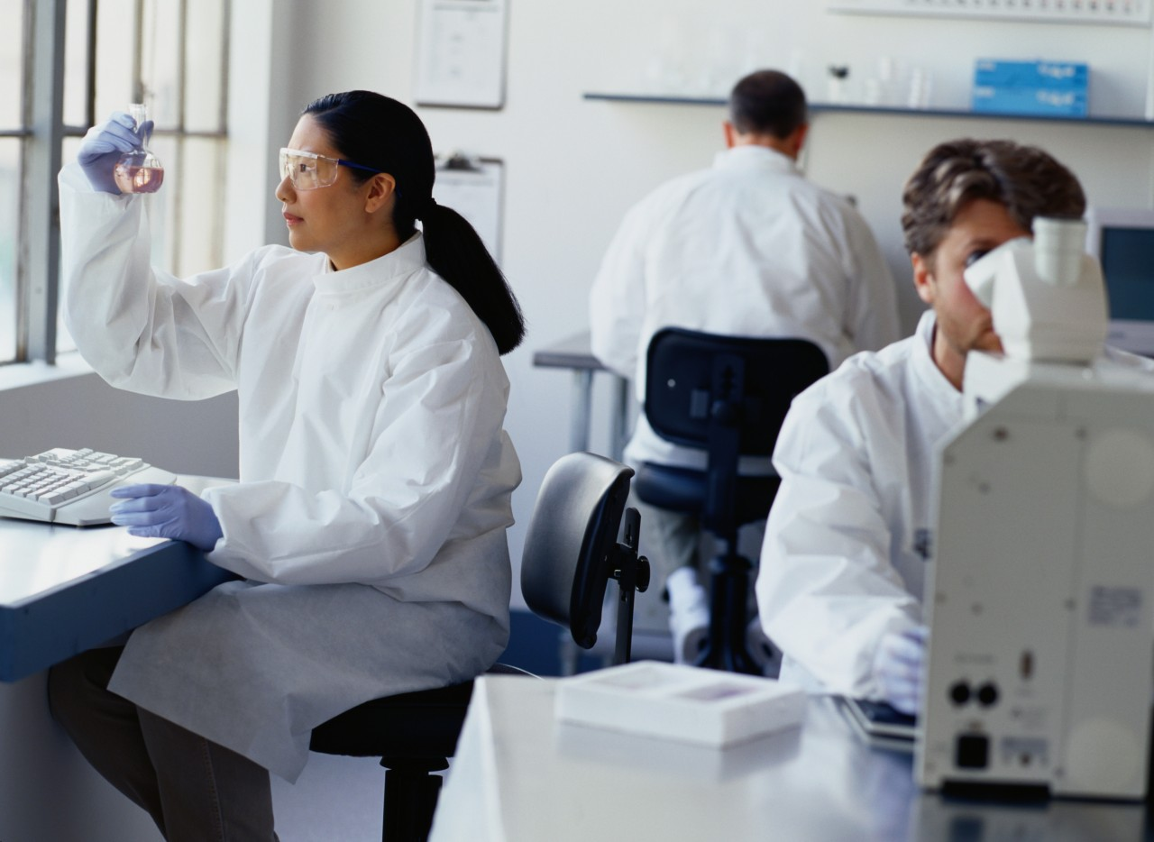 Chemists Working in a Laboratory